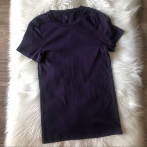 J Crew Fitted Tee Purple Size XL